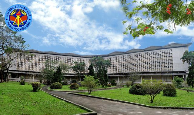 Tòa nhà trường Trung học Kiểu Mẫu Huế xưa kia (1964-1975) nay đã sát nhập vào trường Đại học Sư Phạm Huế . (Hình: Nguyễn Văn Sum K8)